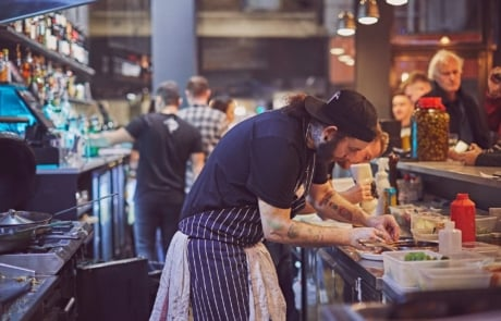Marks Of Deptford Social Bar Kitchen chef in kitchen
